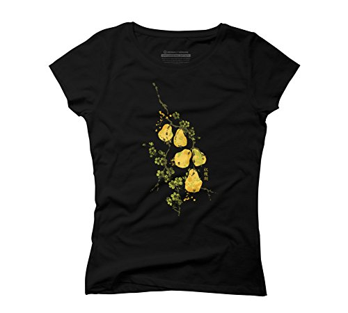 harvest-pears-womens-2x-large-black-graphic-t-shirt-design-by-humans