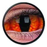 1 Paar Sclera SHADOWCAT Kontaktlinsen linsen farbige rot orange katzenaugen schlange drache vampir sklera mit Box dämon halloween kostüme scleral