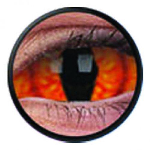 1 Paar Sclera SHADOWCAT Kontaktlinsen linsen farbige rot orange katzenaugen schlange drache vampir sklera mit Box dämon halloween kostüme scleral (Sclera Linsen Kostüm)
