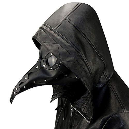 SC Prom Maske Pu-Leder-Material Mit Belüftungsöffnungen Bequem Und Atmungsaktiv Halloween Requisiten Geschenk,Black,30 * 20 * - Unglaubliche Iron Mann Kostüm