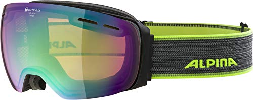 ALPINA Erwachsene Challenge 2.0 MM Skibrille, Black matt, One Size