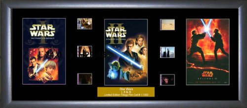 Star Wars - Episodes 1 - 3 - Film Cell Trilogy Ein Film Cell