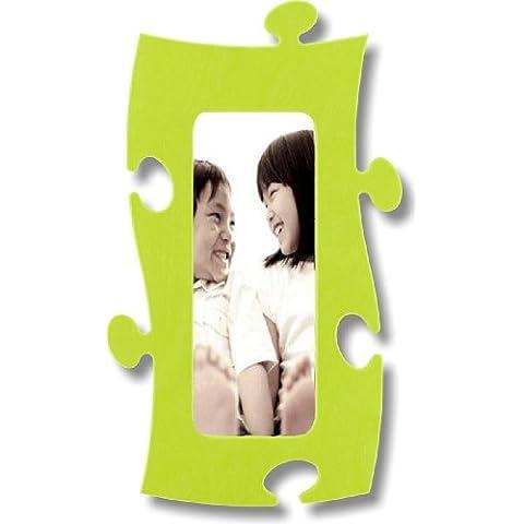 Rompecabezas marco, 10 x 25 cm - verde