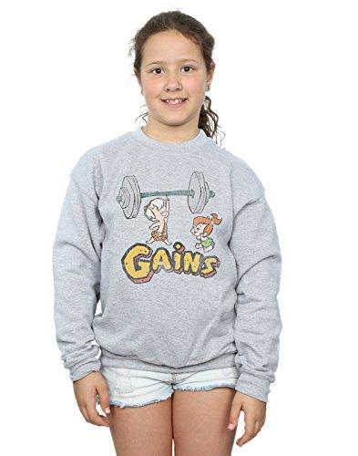 Unbekannt The Flintstones Mädchen Bam Bam Gains Distressed Sweatshirt 9-11 Years Sport Grey (Den Bam-bam Von Flintstones)