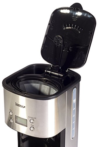 41NudbgT4kL - Igenix IG8250 Digital Filter Coffee Maker, 12 Cup Carafe, Automatic 24 Hour Timer and Keep Warm Function, Removable…