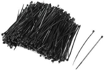 MX 1000 Pcs Self Locking Nylon Fastener Zip Cable Tie Teeth Grip Black 100mm