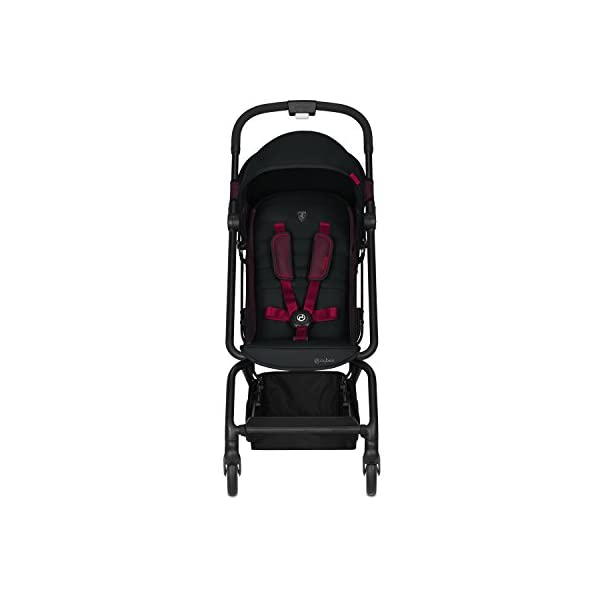 CYBEX Gold Eezy S Scuderia Ferrari Compact Pushchair, One-Hand Folding Mechanism, Lightweight, From about 6 months to 17 kg (about 4 years), Victory Black  Sturdy, High-quality Compact Pushchair for newborns up to approx. 17 kg (approx. 4 years) with one-hand folding mechanism and infinitely adjustable backrest - Including raincover for optimum use in all weather conditions Optimum comfort for parent and child: Light and easy to manoeuvre around the city thanks to a slim wheelbase with a width of just 45 cm, Comfortable sitting position thanks to infinitely adjustable backrest Simple one-hand folding mechanism for travel-friendly size - LxWxH: 25 x 45 x 53 cm, 2-in-1 travel system compatibility with separately available CYBEX and gb baby car seats 2