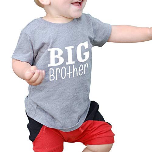 Level Great Reizende Nette Baby-Spiel-Kleidung Kleinkind Brief Printing Jumpsuit Mädchen Big Brother Tops Little Brother Strampler (Kleinkind Mädchen Spielen Kleidung)