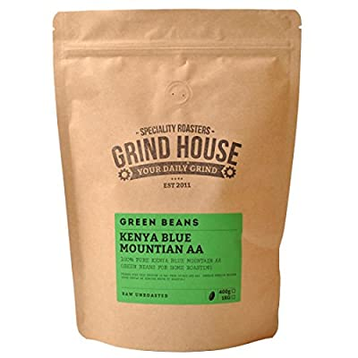 Grind House Kenya Blue Mountain AA Green Coffee Beans for home roasting 400g from Grind House Speciality Roasters