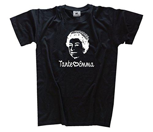 Emma Queen Mdma Techno Party Disco Koks Kokain Drogen T-Shirt Schwarz L (Disco T-shirts)