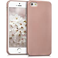 kwmobile Hülle für Apple iPhone SE / 5 / 5S - TPU Silikon Backcover Case Handy Schutzhülle - Cover Metallic Rosegold