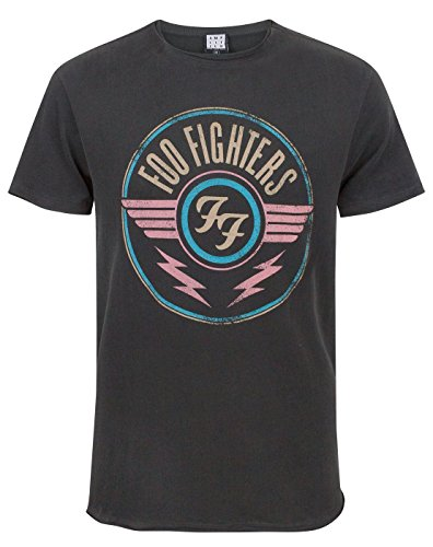 Amplified Herren FOO Fighters-FF Air T-Shirt, Grau (Charcoal CC), L -
