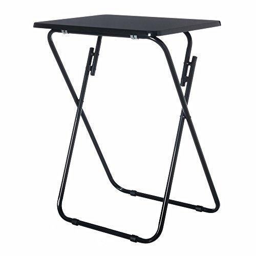 Mesa plegable clásico negra de madera para terraza Basic