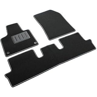 Il Tappeto Auto SPRINT00618, Auto-Fußmatten, schwarz, Rutschfest, zweifarbiger Rand, verstärkter Absatzschoner aus Gummi, C4 Picasso/Grand Picasso 5-Sitzer, 2013