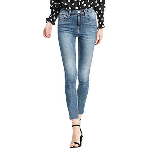 Zhiyuanan pantaloni da donna strech in denim casual slim fit jeans pants
