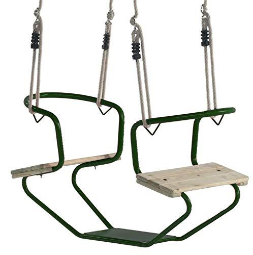 Loggyland Doppelschaukel Schiffsschaukel Schaukel für 2 Kinder (grün)