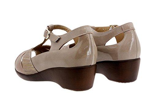Chaussure femme confort en cuir Piesanto 1160 sandales à semelle amovible confortables amples Visón