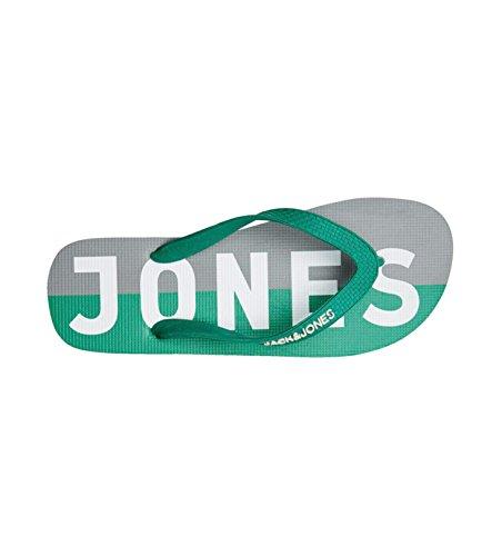 Jack & Jones Logo Paquet Caoutchouc De Marque Tongs Noir Poivre Vert