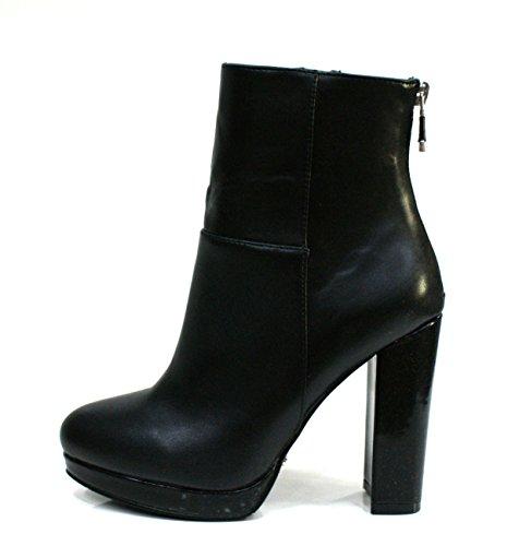 Gaudi Tronchetto Donna Nappy Diva Zip Tacco Cm 10 Leather Black_39