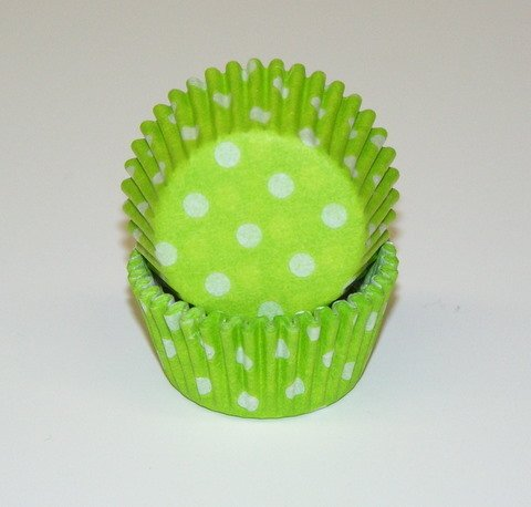 Lime Green Cupcake Liners Mini Size 100 count by CK Products (Green Liner Lime Cupcake)