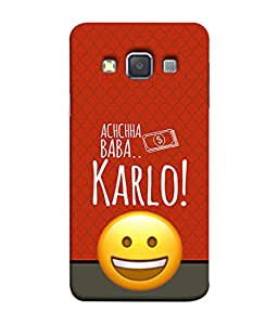 PrintVisa Designer Back Case Cover for Samsung Galaxy A5 (dark light background with quotes)