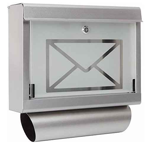 Briefkasten Edelstahlbriefkasten Wandbriefkasten Postkasten Briefkasten mit klappe Zeitungsrolle