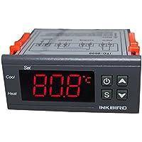 Inkbird ITC-2000 Termostato Digital Pantalla LCD y 2 Relés, Control de Calefacción o