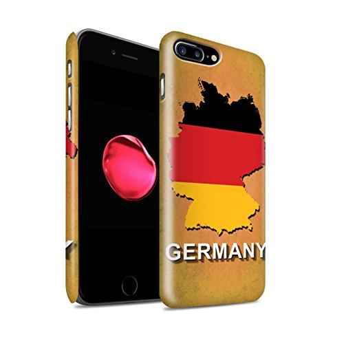STUFF4 Matte Snap-On Hülle / Case für Apple iPhone 7 Plus / Deutschland/Deutsch Muster / Flagge Land Kollektion Deutschland/Deutsch