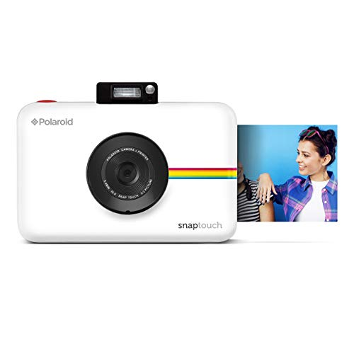 Polaroid Snap Touch Instant Print Digital Camera (White) with LCD Display and Zink Zero Ink Printing Technology