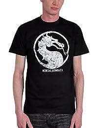 T-shirt Mortal Kombat logo noir