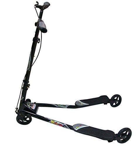 Preisvergleich Produktbild Y-Fun Scooter F3,  schwarz,  ab 8 Jahre,  bis 95 kg