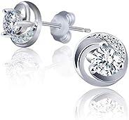Swarovski Elements 925 Sterling Silver Studs Earrings JRosee Jewelry JR699
