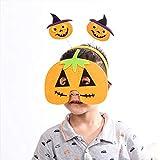 SJZC Maske Halloween CosplayKreatives Stirnband Masken Hand Kürbis Kind Augenmaske