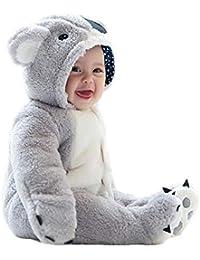 Monos para Bebés Niño Coala Mameluco Peleles Invierno Ropa Traje Animales Rompers