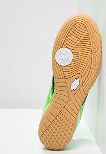Lotto - Spider 700 Xiii Id Jr, Scarpe da calcio Unisex – Bimbi 0-24 Multicolore (Negro / Verde (Blk / Mint Fl))