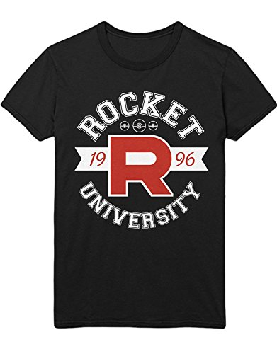 T-Shirt Poke Go Team Rocket University Jessie James Mauzi Kanto 1996 Blue Version Pokeball Catch 'Em All Hype X Y Blue Red Yellow Plus Hype Nerd Game C210012 Schwarz XXXL