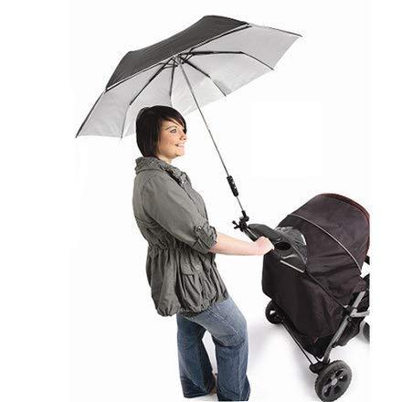 Mama's + Papa's Regenschirm für Kinderwagen, Buggy & Jogger Farbe: Schwarz