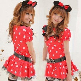Moe Halloween costume cute polka dot Minnie costume [lingerie] [costume play] (japan (Kostüm Moe Halloween)