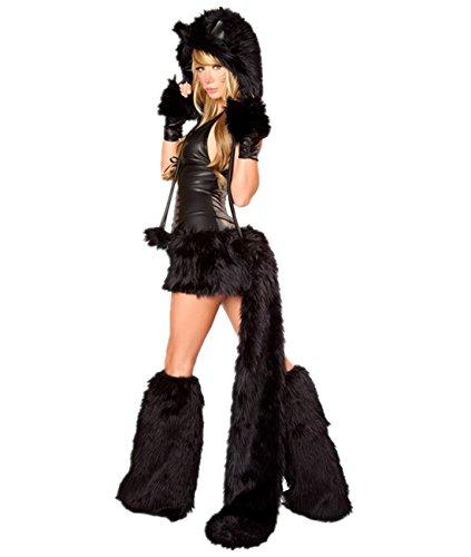 Imagen de disfraz de gato mujer disfraces animal cosplay catsuit para halloween carnaval alternativa