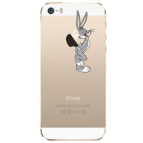 Handyschutz Disney Cartoon und Superheld, weicher Kunststoff, transparent, für Apple iPhone 5/5S/ 6/ 6Plus, plastik, SNOOPY, Apple iPhone 5/5S Kaninchen