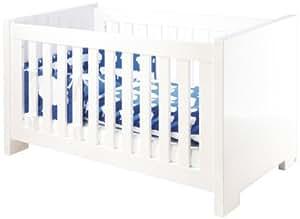 Lit bébé évolutif Cloud - 140*70 - laqué blanc brillant