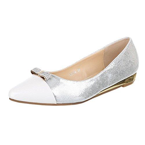 Ital-Design , Ballerines femme Blanc - Blanc
