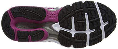 Mizuno Wave Legend 4 (W), Chaussures de Running Entrainement Femme Violet (Fuchsia Red/silver/black)