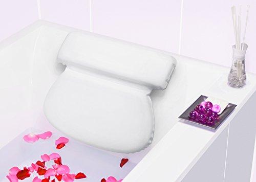 Bach & Berg Badewannenkissen | Weiches Badekissen für eine traumhafte Zeit in der Badewanne oder im Whirlpool mit Nackenkissen | Wannenkissen mit starken Saugnäpfen zur Erholung im Home SPA |