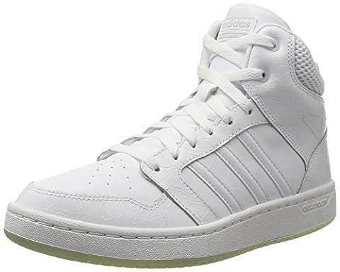 adidas Damen CF Superhoops Mid Hohe Sneaker, Weiß (Footwear White/Footwear White/Matte Silver), 41 1/3