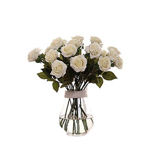 stliche Rose Blumen, Wei? Rosen, Home Dekor für Hochzeit Geburtstag Party Bridal Bouquet Blume (Bridal Party Dekor)