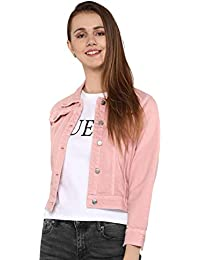 Shocknshop Basic 3/4th Sleeve Comfort Fit Regular Pink Denim Jacket for Women (JKT123)