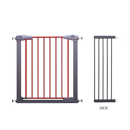 Babyschutzgitter Treppengeländer Pet Fence Isolation Tür 77-83cm breit Mahagoni Farbe (größe : 107-113CM) -