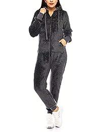 Teddyfleece Teddyfell Jumpsuit flauschig und kuschelig One Piece Overall warm