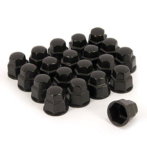AutoStyle Lot de 20 cache-écrous pour roue Noir 19 mm